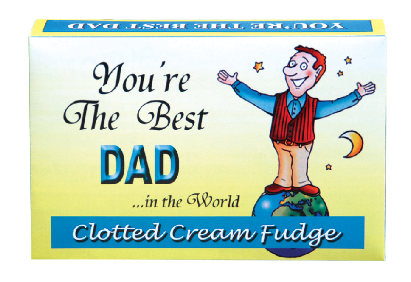 fudge gift boxes best dad in the world € 4 99 clotted cream fudge ...