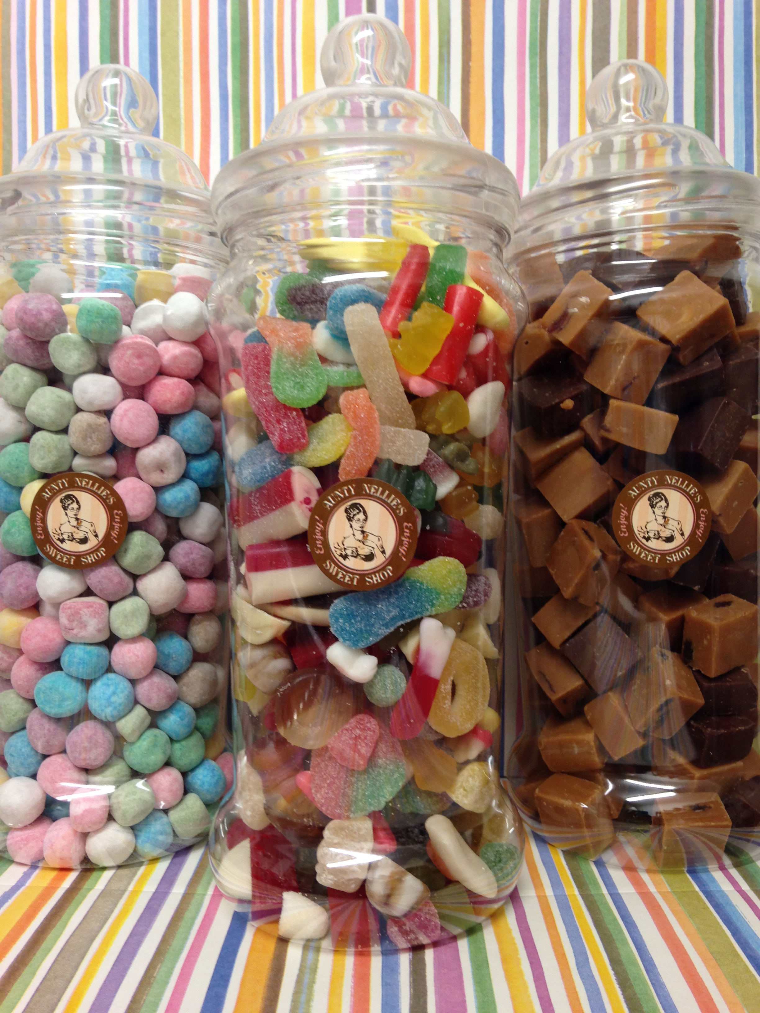 Giant Mixed Jellies Victorian Jar Aunty Nellie S Sweet Shop
